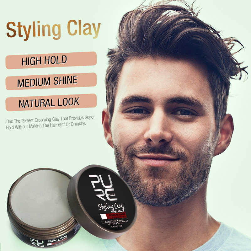 Hot Selling 80g Long Lasting Dry Stereotypes Type Hair Clay New Hair Wax For Short Hair Hair Styling Pomades Waxes Aliexpress
