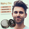 2018 hot selling 80g Long-lasting Dry Stereotypes Type Hair Clay New Hair Wax for Short Hair Hair Styling