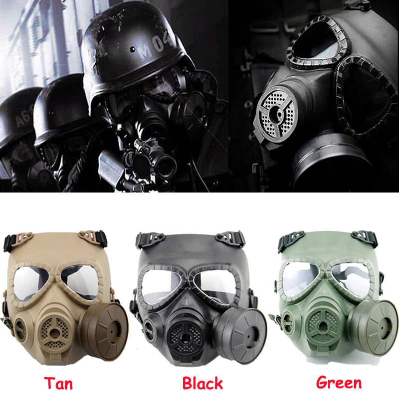 Tactical Airsoft Protection Masks Full Face Resin Mask With Fan For CS Cosplay Paintball Game Protection Respirator Mask