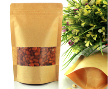 Kraft Paper stand up packaging with Window