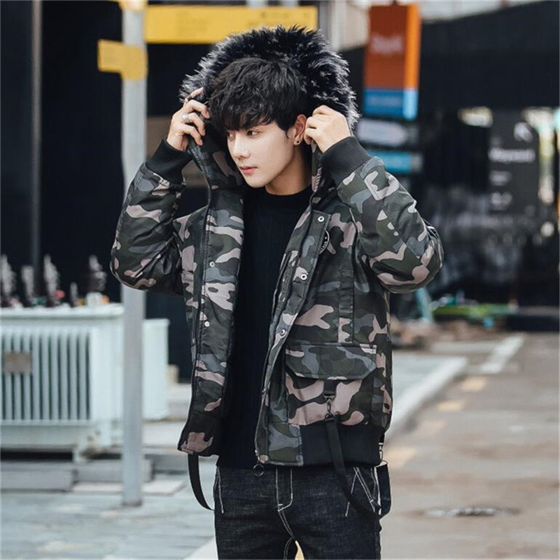 GYMLOCKER Men Parka Coat 2018 Men 39 s Warm Windproof Camouflage Male Hooded fashion Casual Winter Coats parka men clothes M 3XL in Parkas from Men 39 s Clothing