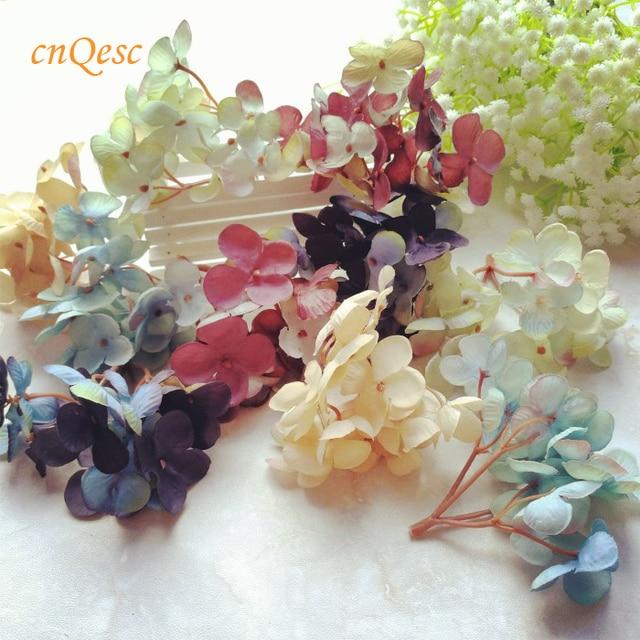 Small Hydrangeas Artificial Flowers Flower Buds Silk Flower For