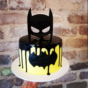 Image 4 - Dark Knight Acrylic Cake Topper Black Hero Mask Cake Topper for Kids Boys Birthday Party Cake Decorations Baby Shower 2019 New