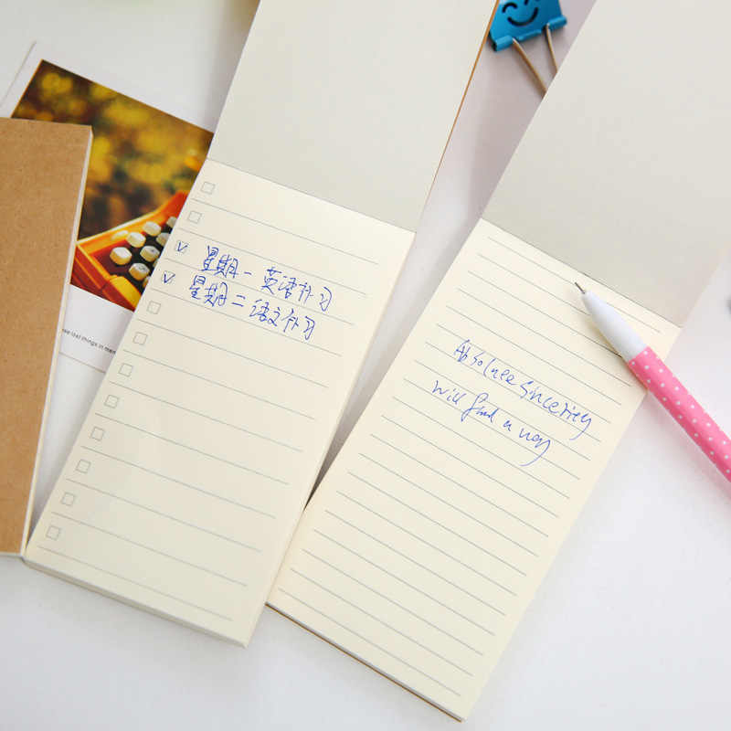 Orisinalitas Kesederhanaan Buku Catatan Kecil Scratch Pad Dapat Merobek Rencana Notepad Bersih Kotak-kotak Buku Rekening Peralatan Kantor Alat Tulis