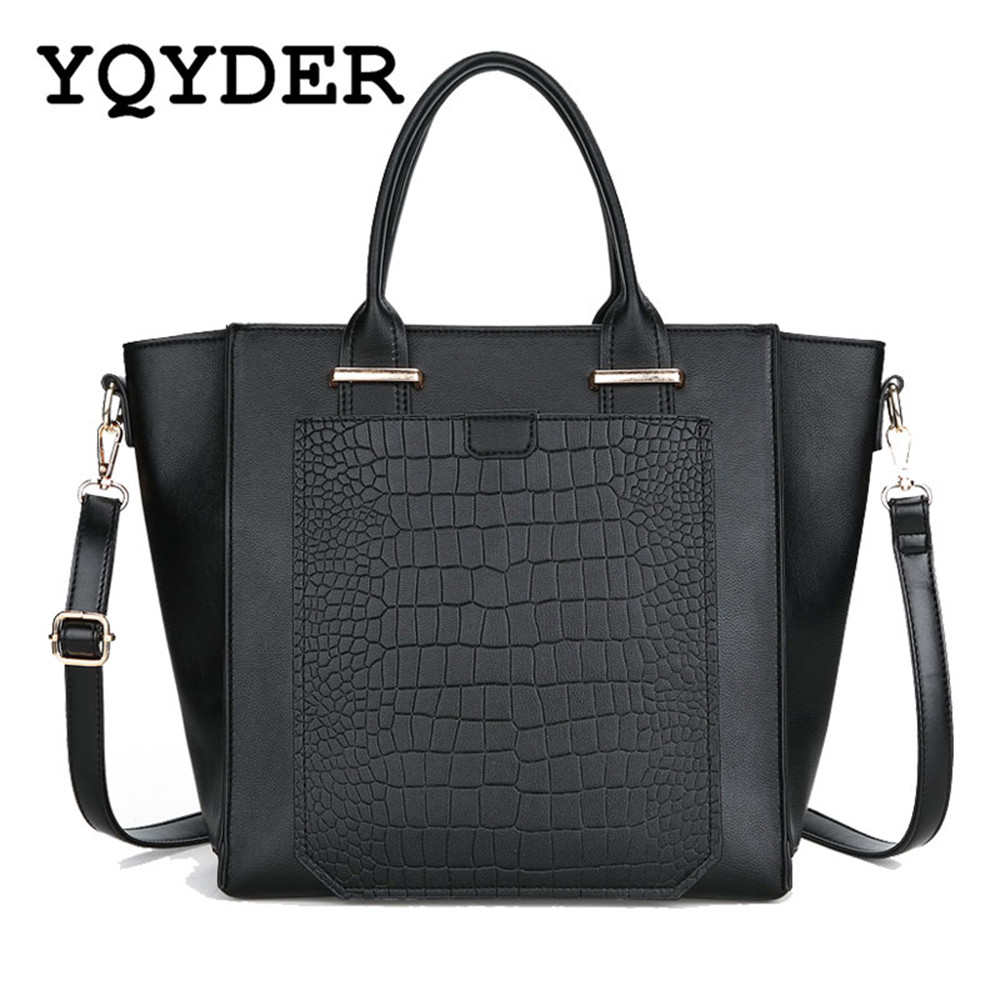 Brand Women Alligator Leather Handbags Design Shoulder Bags Daily Casual Tote Bags Stree ...