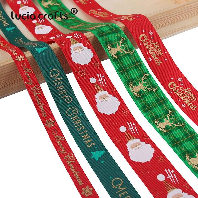 HTB1MiOke8Cw3KVjSZFlq6AJkFXaI 5yards/lot 10mm/15mm/25mm Polyester Printing Christmas Grosgrain Ribbons DIY Xmas Party Wrapping Decor Supplies Material X0203