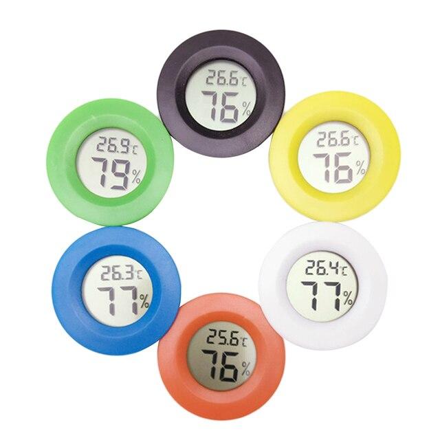 1 sztuk Mini LCD cyfrowy wilgotność temperatura okrągły higrometr temperatura zamrażarka miernik testowy pirometr narzędzie