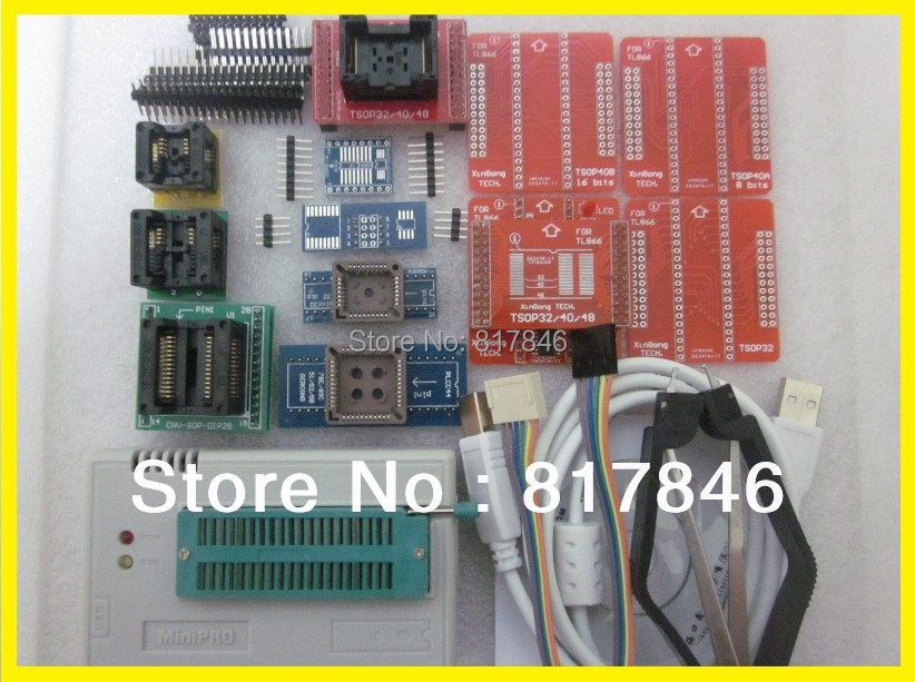 XGECU V8.08 TL866A TL866II Plus PIC AVR EEPROM BIOS USB NAND Flash Universal Programmer TL866 MiniPro High Speed+14 free items