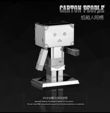 Carton People Metal 3D Puzzle Educational Toys Jigsaw Puzzles Kids Tangram Stainless Steel DIY Assembly 3D Puzzle De Metal