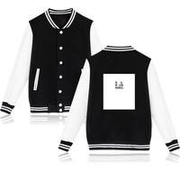 BTS Kpop JUNGKOOK Same Fashion Print Baseball Hoodies Women Korea Autumn Winter Baseball Sweatshirts Men Cotton