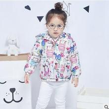 Girls cotton-padded clothes children new cotton-padded jacket The European and American style winter cotton-padded clothes coat