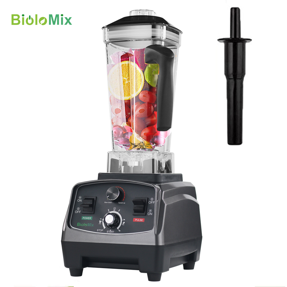 3HP 2200W Heavy Duty Commercial Grade Automatic Timer Blender Mixer Juicer Fruit Food Processor Ice Smoothies BPA Free 2L Jar image