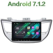 "2 din Android 7.1.2 Quad core 10.1"" 2GB RAM GPS Navigation Car Radio Stereo Player Bluetooth For Hyundai IX35/TUCSON 2015 2016"