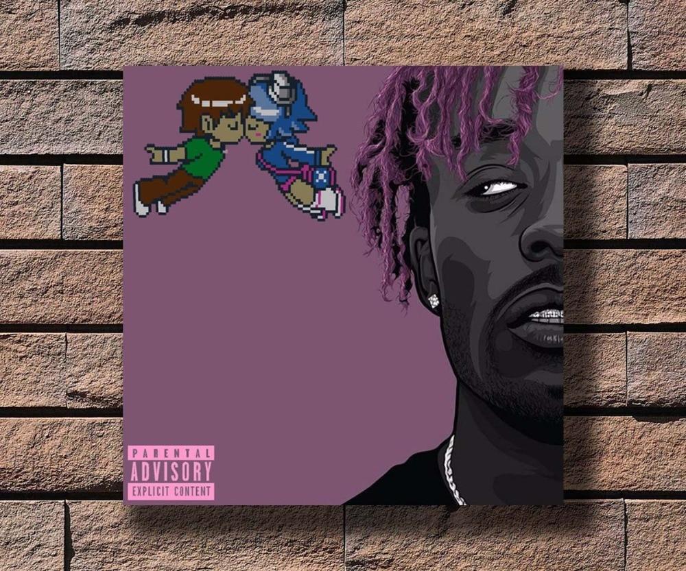 y434 lil uzi vert music rapper album cover hot poster art canvas print decoration 16x16 24x24 27x27inch