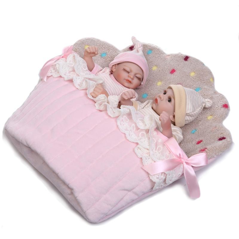 Mini Bebe Reborn Doll NPK 26cm Handmade Soft Silicone Baby Boneca Dolls Realistic Babies bathable Toys Kids Birthday Gift
