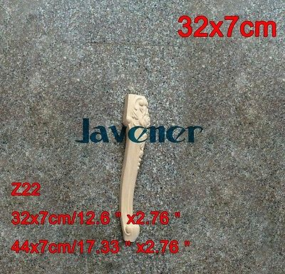 Z22 -32x7 см деревянные резные Аппликации, наклейки для плотника, деревянные рабочие столярные ножки стола