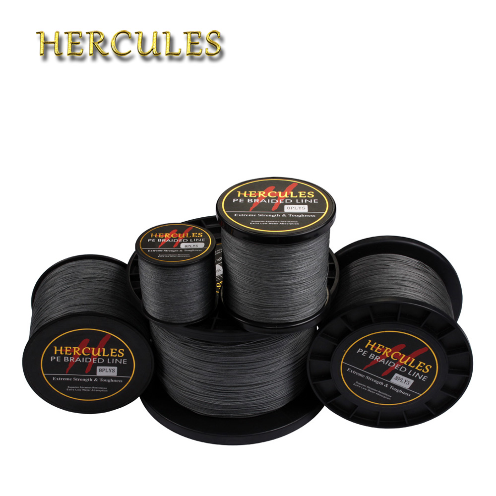 Hercules 8 Strands Fishing Line Grey 1640 Yards 1500M Big Game 10LB-200LB Pesca Carp Fishing Braided Fishing Line Accessories lucky john croco spoon big game mission 24гр 004
