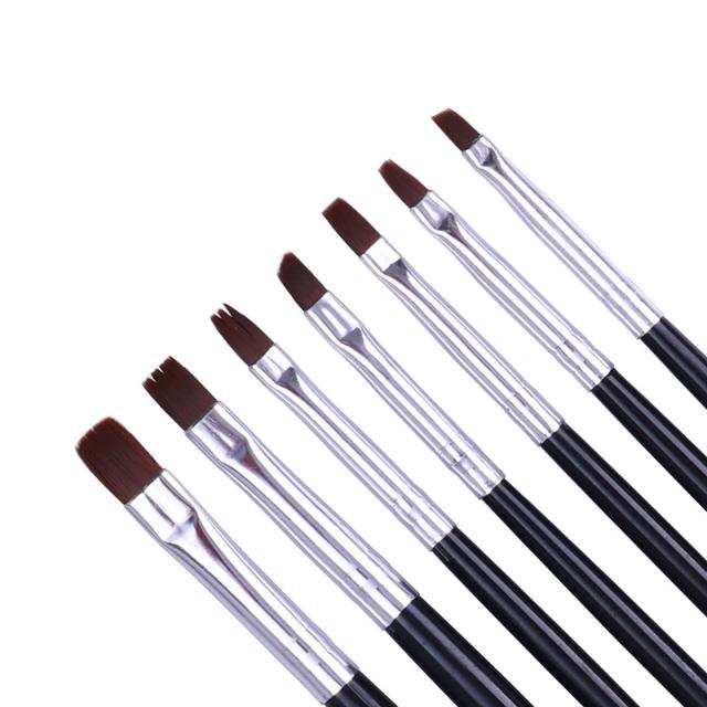 7Pcs Nail UV Gel Brush Pen Professional Acrylic Handle Nail Art Painting Drawing Brushes DIY Manicure Accessories Tools