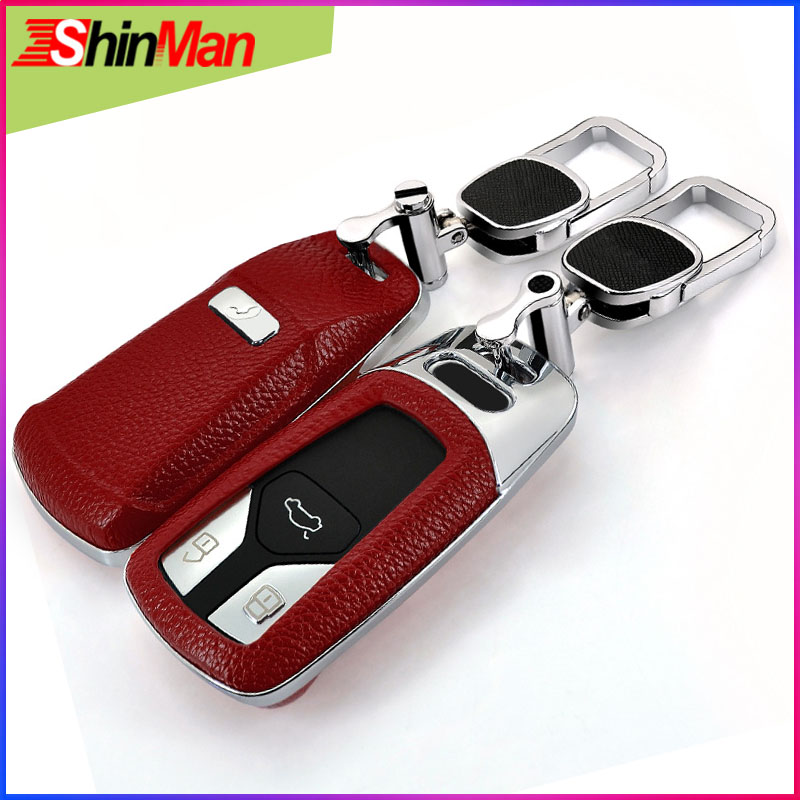 ShinMan 2018 Fashion style key Car key Cover key shell For CAR key case For Audi A5 S5 Q7 A4 A4L TT TTS 2015 2018 Keychain in Key Case for Car from Automobiles Motorcycles