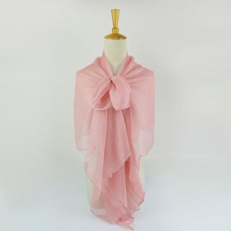 Жатый шелк жоржетовый длинный шарф 110 см X 180 см Чистый шелковый шарф женский однотонный цвет изделия из шифона в большом размере шарф - Цвет: 09