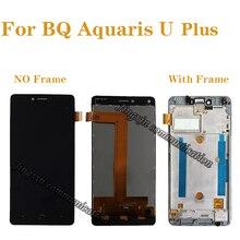 Bq aquaris u plus lcd + 터치 스크린 부품 디지타이저 액세서리 교체 bq aquaris u plus lcd 디스플레이 구성 요소