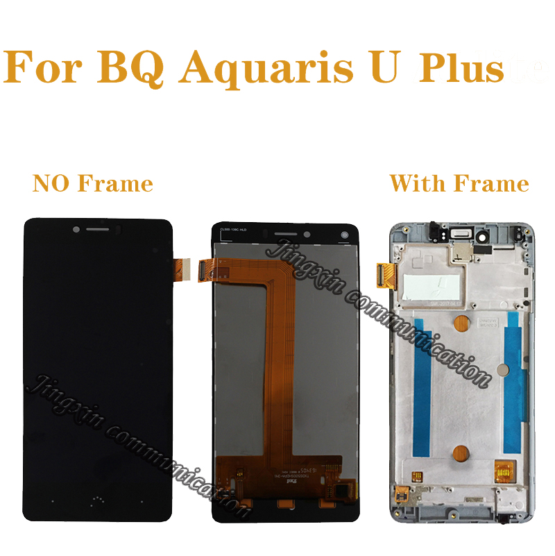 for BQ Aquaris U Plus LCD + touch screen components digitizer accessories replacement BQ Aquaris U plus LCD display components-in Mobile Phone LCD Screens from Cellphones & Telecommunications