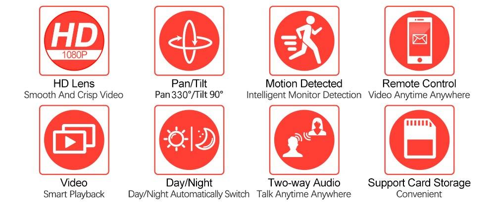 HTB1MiQtacvrK1Rjy0Feq6ATmVXaT WIFI Camera Outdoor PTZ IP Camera H.265X 1080p Speed Dome CCTV Security Cameras IP Camera WIFI Exterior 2MP IR Home Surveilance