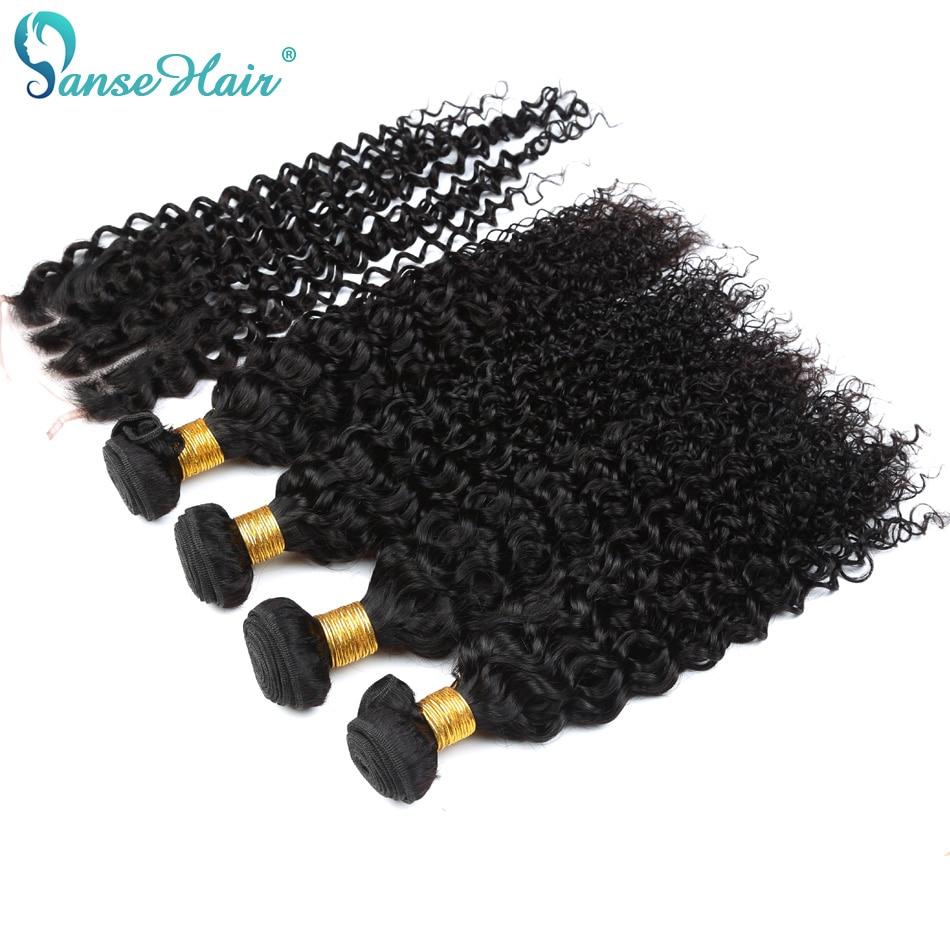 Brasiilia Virgin Hair Kinky Curly Hair Weaving 3 kimbud kootud 1 PC - Inimeste juuksed (must) - Foto 2