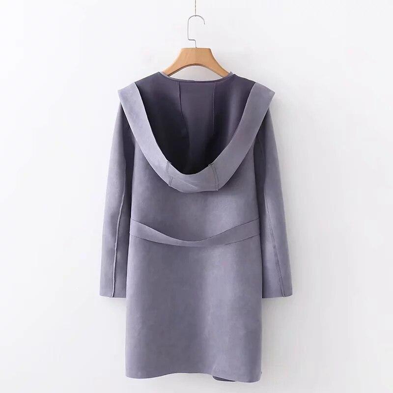 Jenny /& Dave 2018 jacke casaco feminino england stil Wildleder solide schärpen kordelzug jacken frauen bomber jacke plus größe 0913