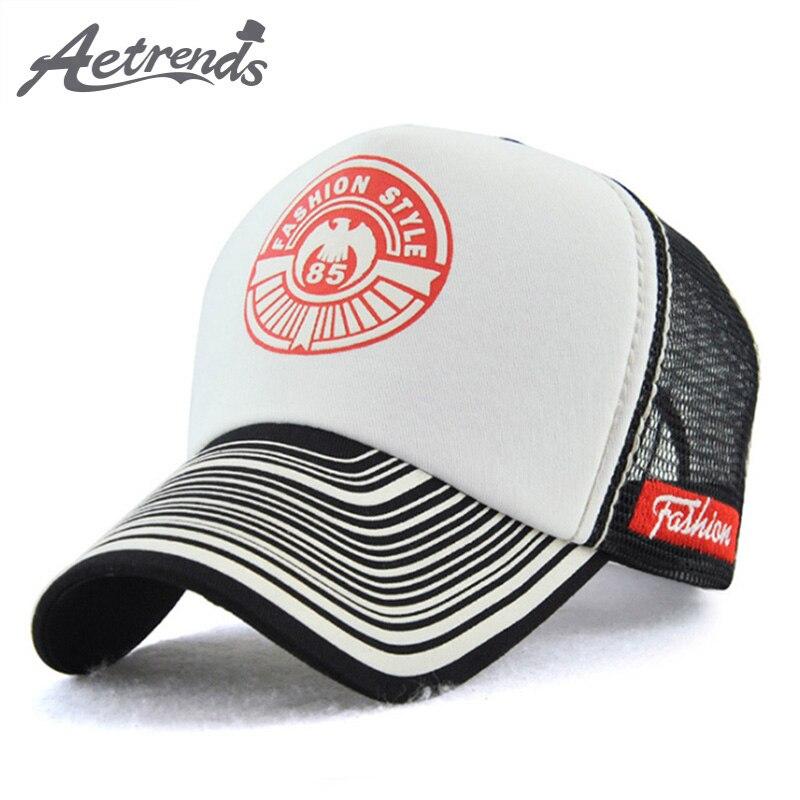 [AETRENDS] Men   Cap   Summer Breathable Mesh   Cap   White   Baseball     Caps   5 Panel Hat Brand Bone   Baseball   Snapback -6487
