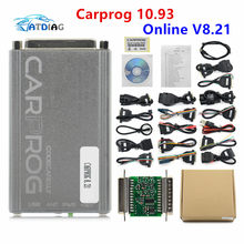 Online Programmer Carprog FW V8.21 v10.05 V10.93 Full Set With 21 Adapters All Software Activated Auto Repair Tool(China)