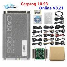 Online Programmeur Carprog Fw V8.21 V10.05 V10.93 Volledige Set Met 21 Adapters Alle Software Activated Auto Reparatie Tool