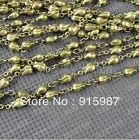 Fashion Jewelry Findings Accessories Charm Pendant Copper Antique Bronze Chain Width Rose Chain 10 4mm 1