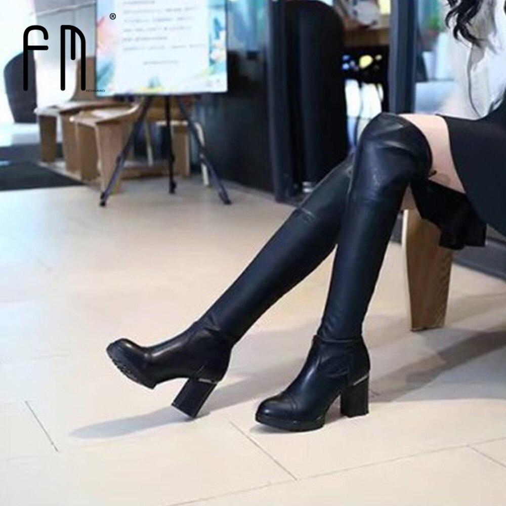 acheter populaire 3f821 cdd9d FEDIMIRO Femmes Bottes De Mode de Haute Qualité En Daim Sexy ...