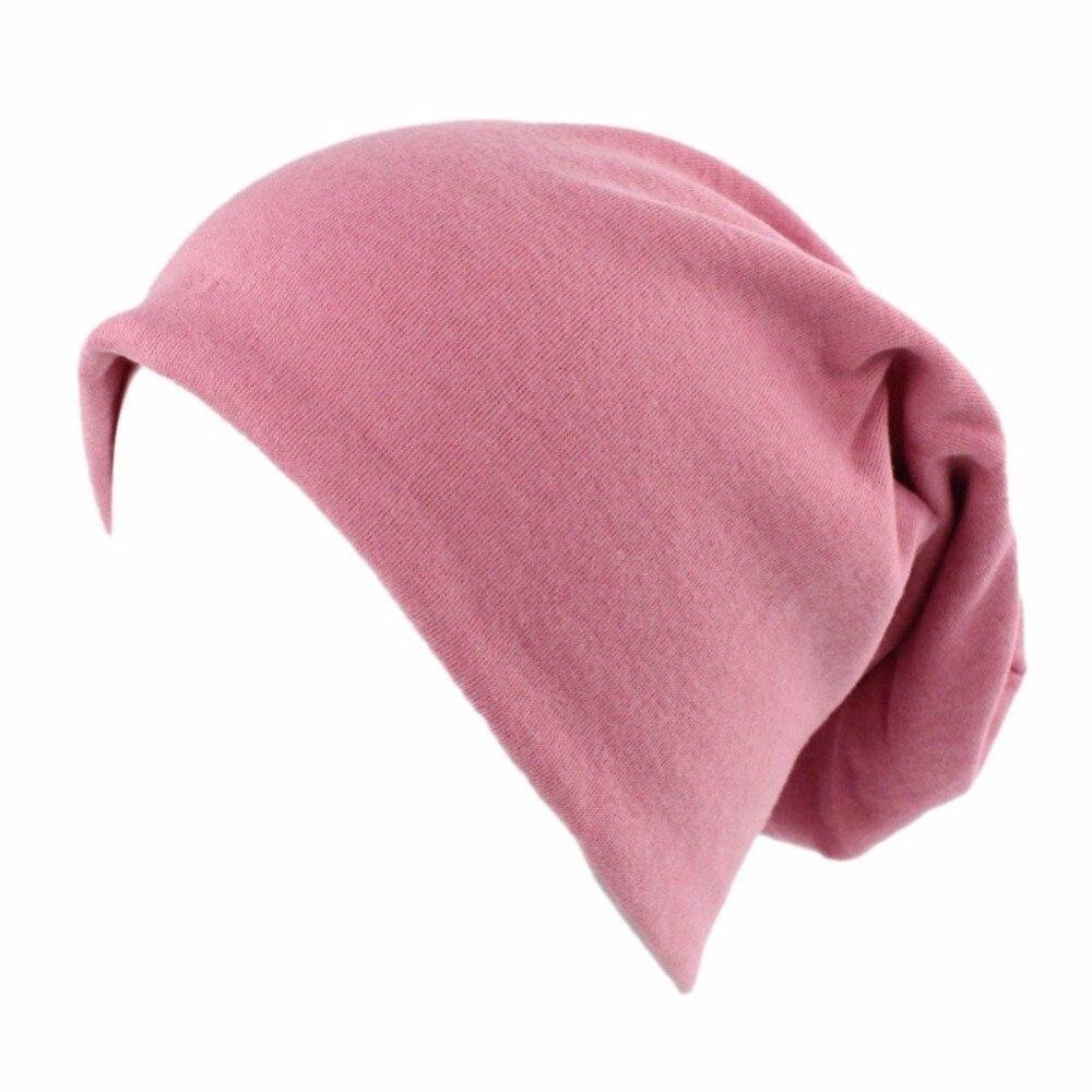 1 Pcs Hut Frauen Männer Einfarbig Lange Weiche Atmungs Falten Tragbare Elastische Kappe Headwear Zubehör