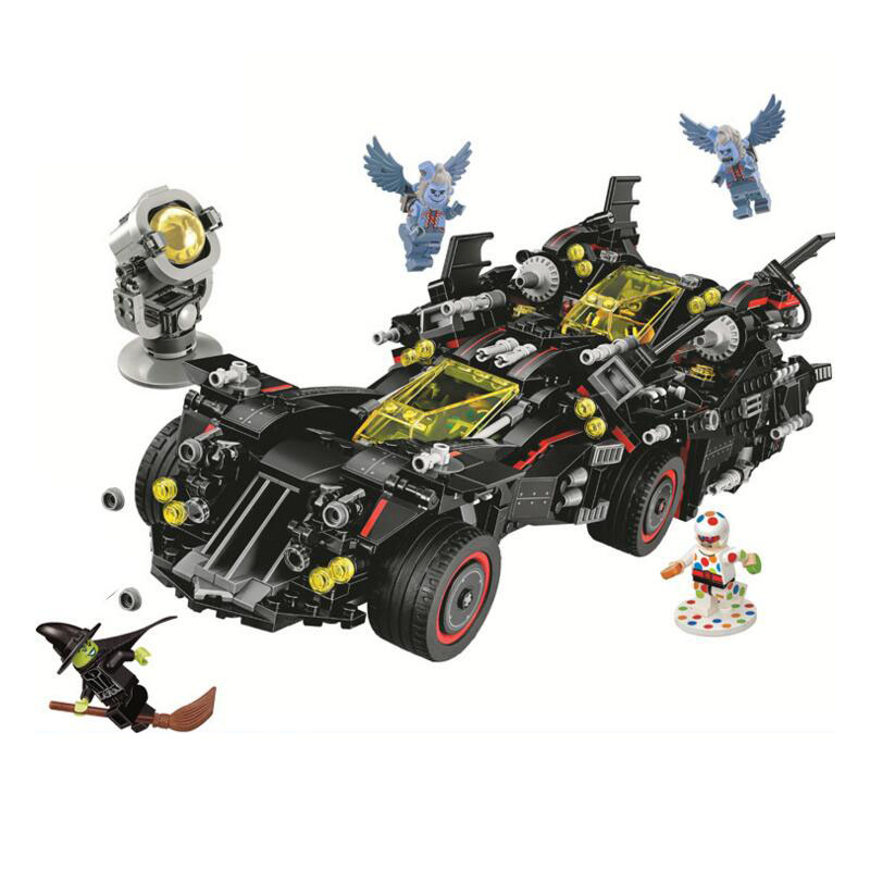 Bela 10740 Batman Movies Series The Ultimate Batmobile Building Blocks Car Model Educational Brick Toys Compatible With 70917 ynynoo bela 10501 233pcs princess friend elves elvendale school of dragons model building kits blocks brick with 41173