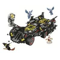 Bela 10740 Batman Movies Series The Ultimate Batmobile Building Blocks Car Model Educational Brick Toys Compatible With 70917