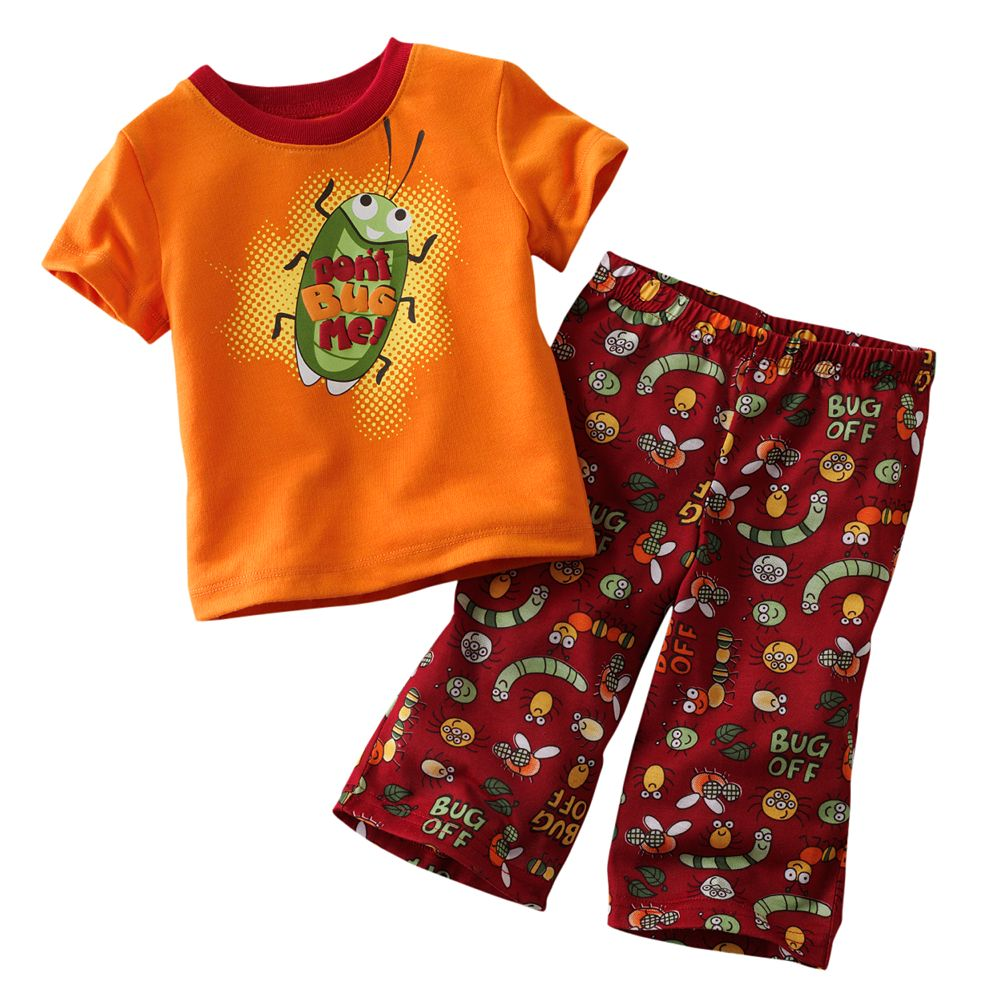 Jumping Beans Boys Sets Short Sleeve Suits RETAIL Baby Boys Clothes Bug Insect Print jumping beans костюмы