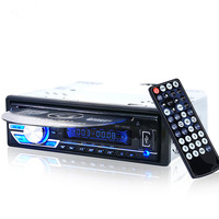 1563U 1 DIN 12V Car Radio Audio Stereo MP3 Players CD Player Support USB SD Mp3 Player AUX DVD VCD CD Player with Remote Control