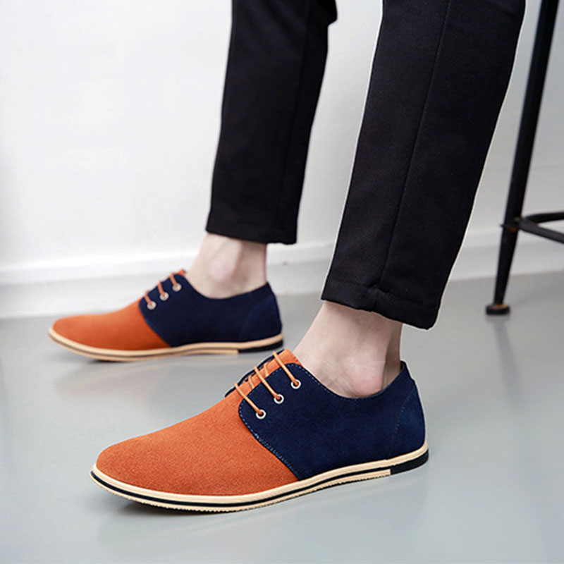 Men Leather Shoes Brand Casual Cow Suede Comfortable Formal Dress Shoes Men Flats casual sneaker shoes Big size 49 50 LK 47|Men's Casual Shoes| |  - title=