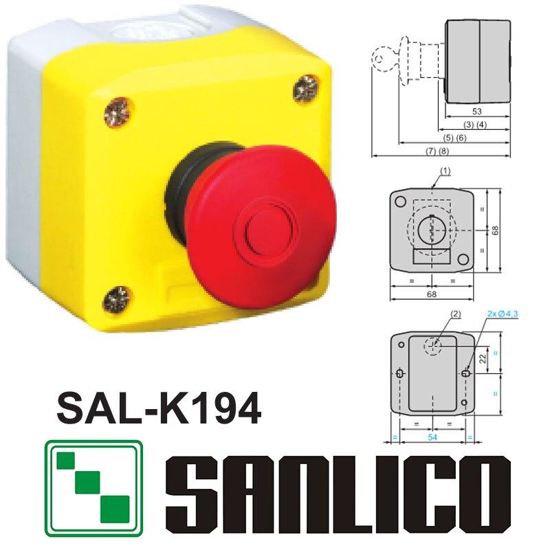все цены на waterproof control box push button switch station SAL(LA68H XAL)-K194 push-pull emergency stop station push button switch онлайн