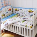 Promotion! 6PCS Baby Crib Bedding Sets Baby Cot Bedclothes ,include(bumpers+sheet+pillow cover)