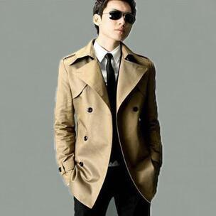 High quality 219 autumn slim sexy trench coat men british fashion double breasted mens trench coat overcoat plus size 8XL 9XL