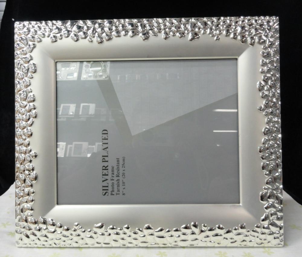 ⃝10 pulgadas astilla metal foto marcos, metal Picture holders ideal ...