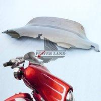 Brand New 8 Chrome Wave Windscreen Windshield For Harley 1996 2013 Electra Street Glide FLHTC FLHX