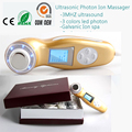 Home Spa Beauty Salon 3mhz Ultrasonic Galvanic Ion Pores Makeup Cleanser IPL Photon Skin Rejuvenation Facial Firming Machine