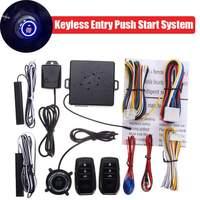 Smart Auto Car Alarm Car Engine Push Start Button Lock Ignition Starter Keyless Entry Start Stop Immobilizer Anti theft System
