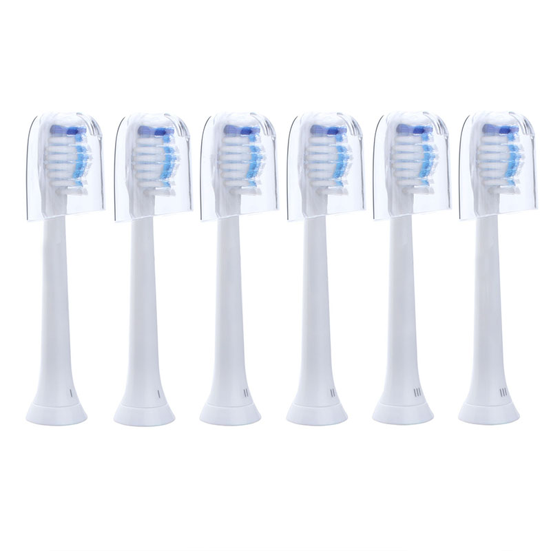 6pcs Electric Toothbrush Head Replacement Heads Fits for Philips Sonicare P-HX-6064 Tooth Brush Oral Hygiene 4pcs electric sonic replacement tooth brush heads for philips sonicare toothbrush heads dual soft bristles sensiflex hx2014