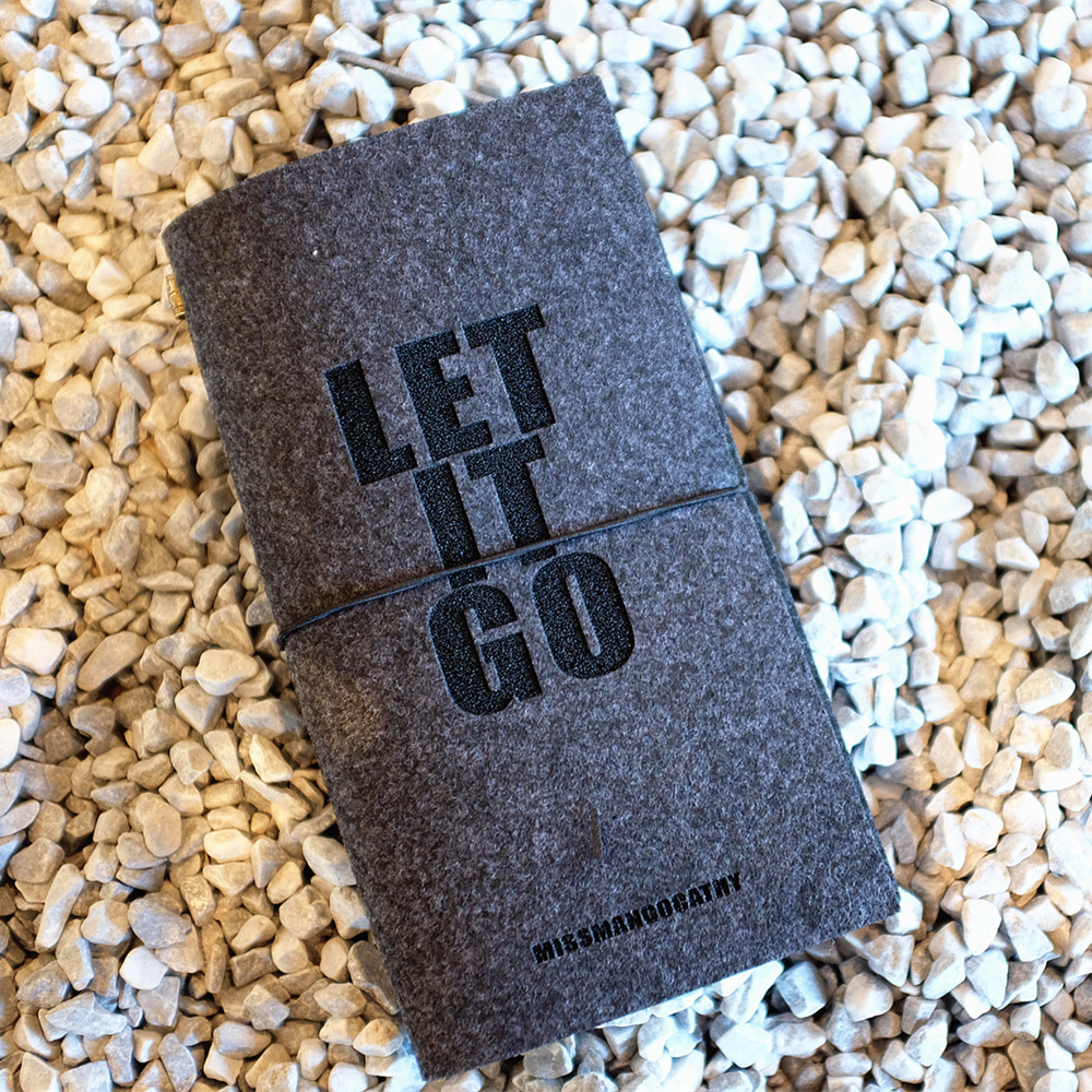 """Let it Go"" Felt Fabric Cover Diary Traveler Journal Business Notebook Study Planner Boyfriend Stationery Gift"