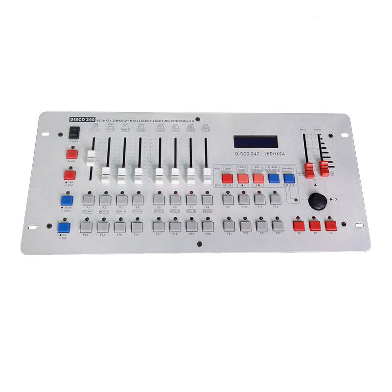 Hot Sell Disco 240 DMX Controller Professional DMX512 Console DJ Eqiuptment For Stage Wedding And Event Entertainment Lighting lightme professional stage dj dmx stage light 192 channels dmx512 controller console dj light for disco ktv home party night